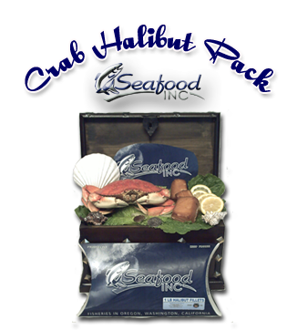 Crab - Halibut - Seafood Gift Basket
